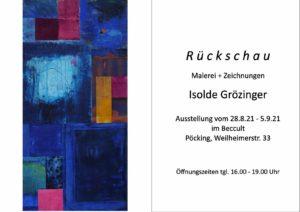 Ausstellung im beccult: Isolde Grözinger, Rückschau Malerei und Zeichnungen
